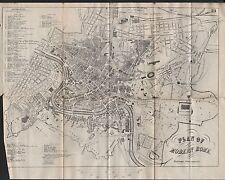 1890 ca Antico Town Plan-Moderno Roma, Italia