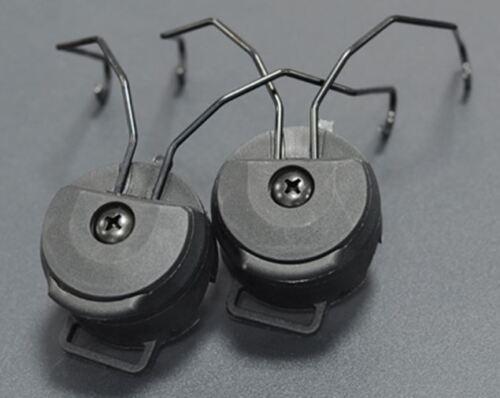 Airsoft FMA PT Casque Rail adaptateurs set Fast Black OPS CORE pour Sordin Headset