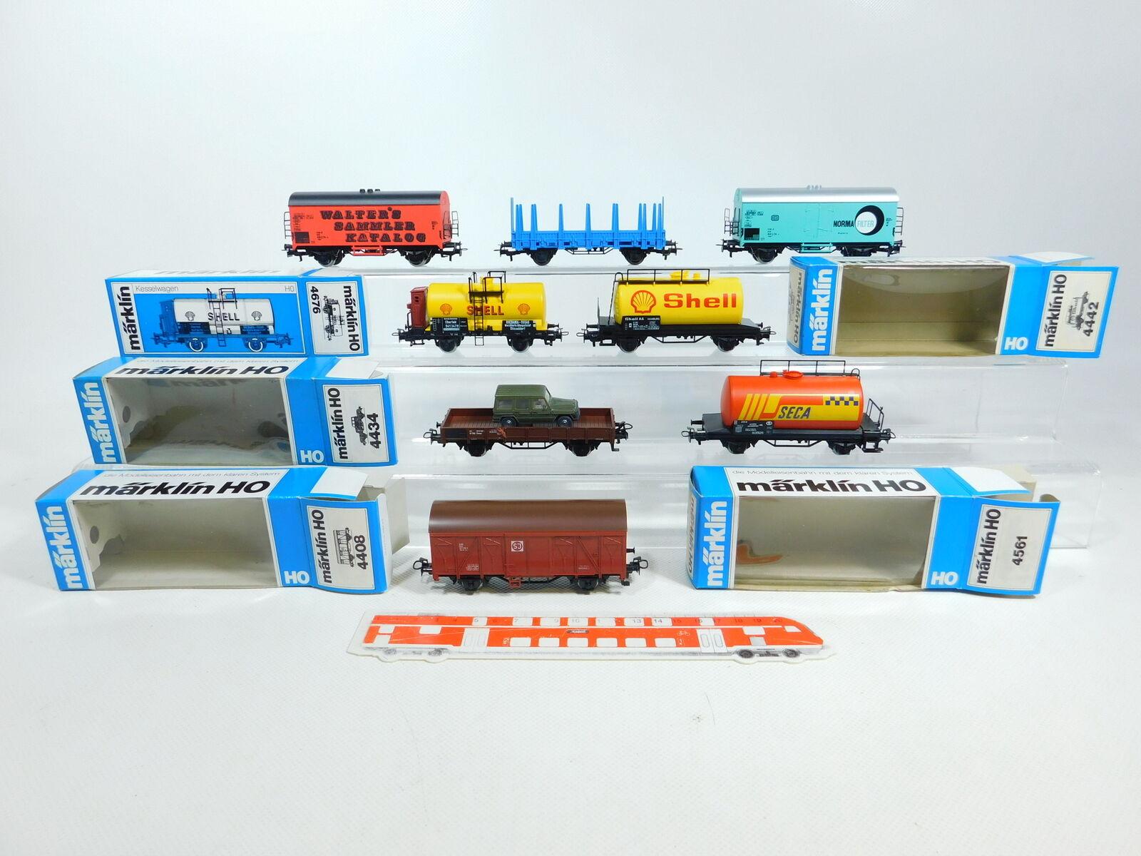 BV822-1  8x Märklin H0 AC Güterwagen  4434 ÖBB+4676 DRG+4408 SJ etc, 2. Wahl gut