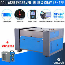 Omtech 100w 24x40 In Co2 Laser Engraver Cutter Etcher With Cw5202 Water Chiller