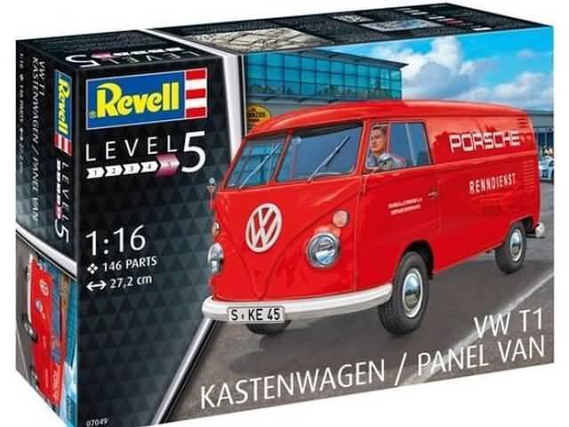 REVELL 1 16 KIT IN PLASTICA FURGONE VOLKSWAGEN T1 KASTENWAGEN   PANEL VAN 07049
