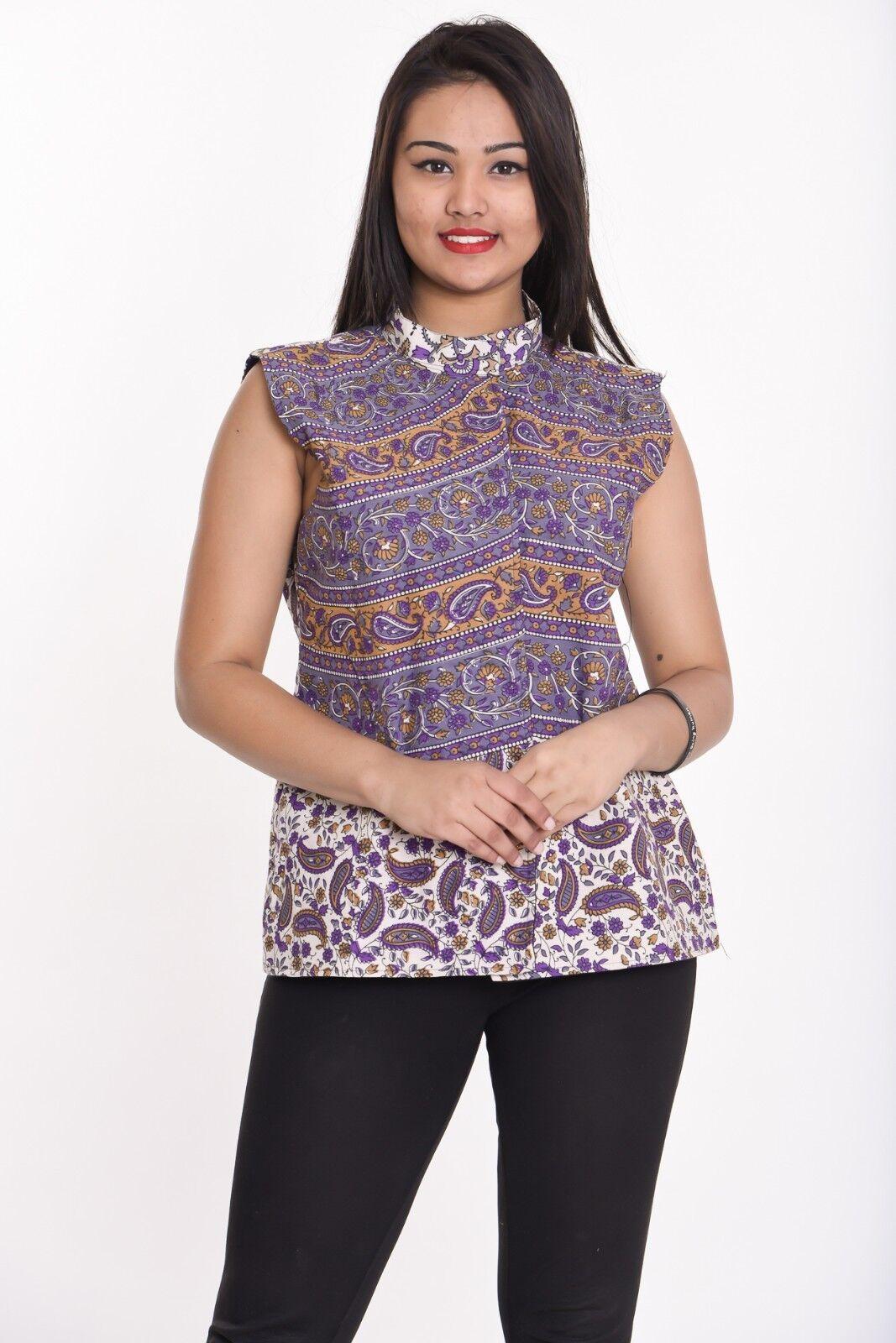 Indian cotton women's Waistcoat vest outwear overcoat jacket XXS-10XL Plus size