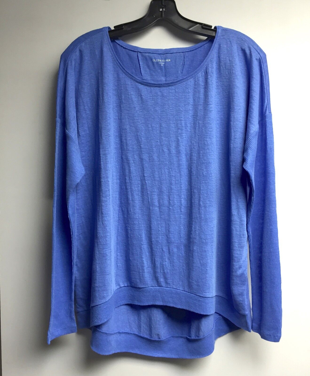 NWT EILEEN FISHER BlauBELL L S Bateau Neck Wedge Top LARGE BRAND NEW T2488M
