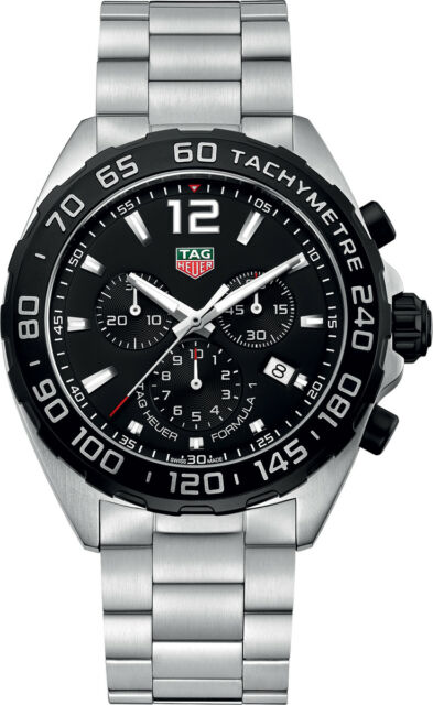 5d4932168c3d BA0842 TAG HEUER MENS FORMULA 1 SWISS QUARTZ STAINLESS STEEL WATCH