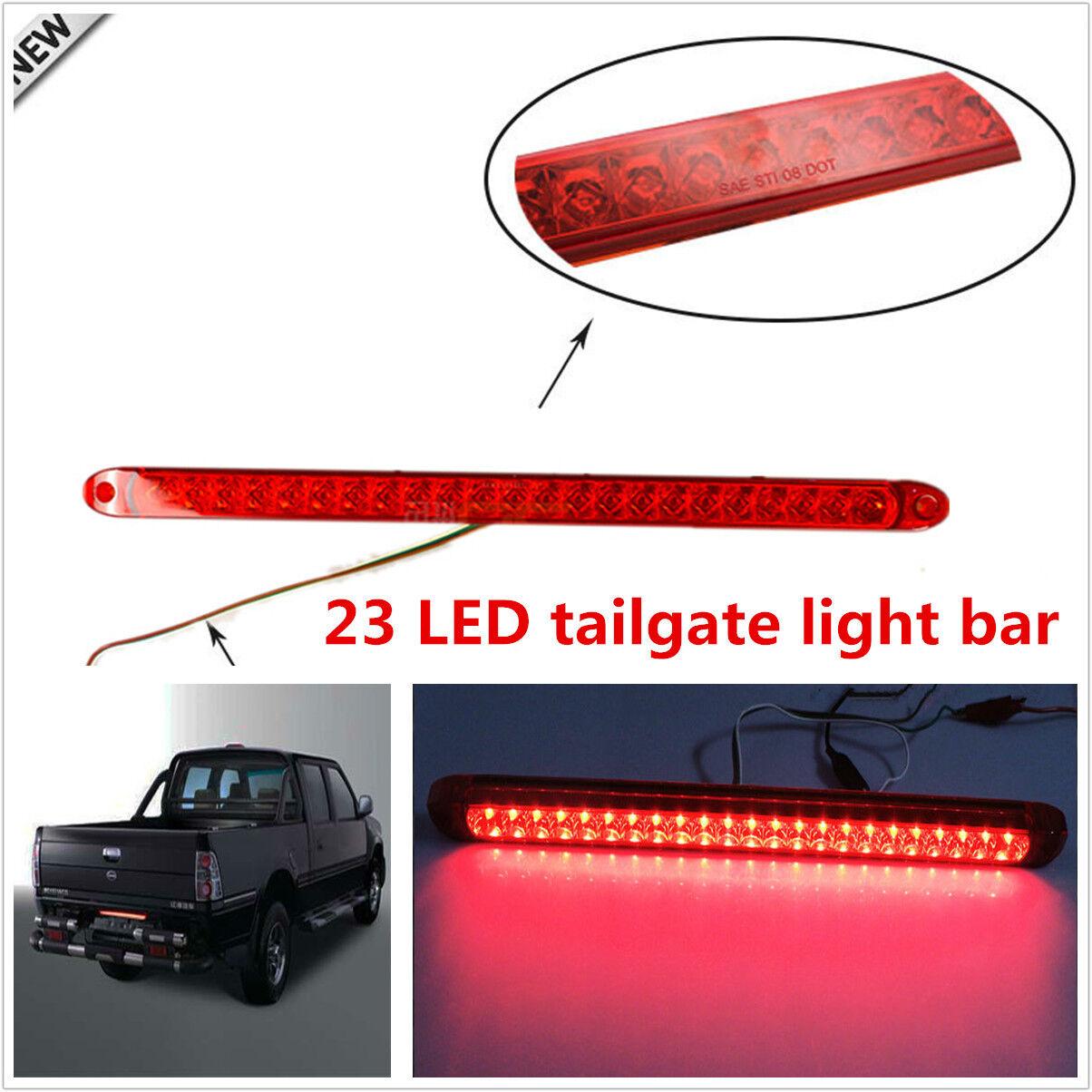 1pcs New Car Truck 23LED Red Light Tailgate Light Bar Tail Brake Light Functions
