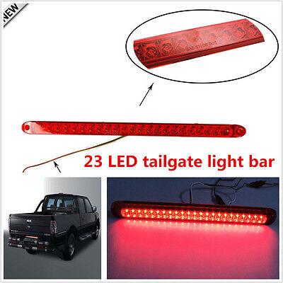 "18/"" DC12V 23-LED Red Car Off-Road Trunk Tailgate Light Brake Lamp Bar Functions"