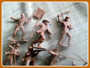 Lot-o12-MARX-Civil-War-Playset-BUTTERNUT-54mm-w-Barzso-Replicants-Random-Poses