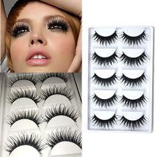 5 Pairs Handmade Soft Long Makeup Cross Thick Natural False Eyelashes Eye Lashes