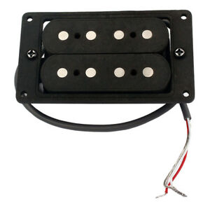 Hand-Wound-Humbucker-Double-Coil-Pickup-Black-for-4-String-Cigar-Box-Guitar