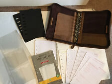 Franklin Covey Classic Planner Binder Top Grain Leather Brown With Tabbed Pages