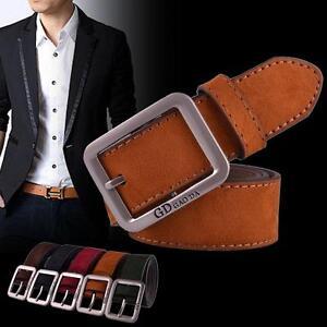 Casual-cuir-ceinture-boucle-automatique-ceinture-ceinture-sangle-mode-hommes-NN