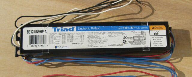 3 Universal Triad B332IUNVHP-A Electronic Ballast for F32T8 //U F28T8 F25T12