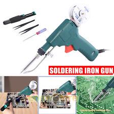 Electric Soldering Iron Kit 110v 80w Auto Welding Gun Desoldering Pump Tool Set