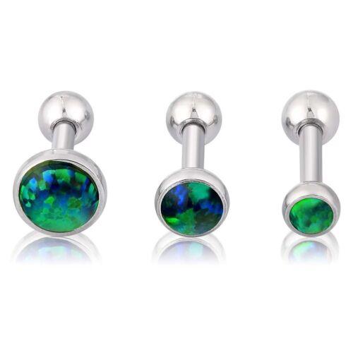 3pcs Opalite Flat Top Ear Bone Studs Cartilage Helix Earring 16G Barbell Earring