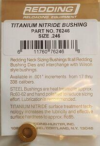 76246 Redding Titanium Nitride .246 Cou Taille Bague-brand New-free Ship-afficher Le Titre D'origine