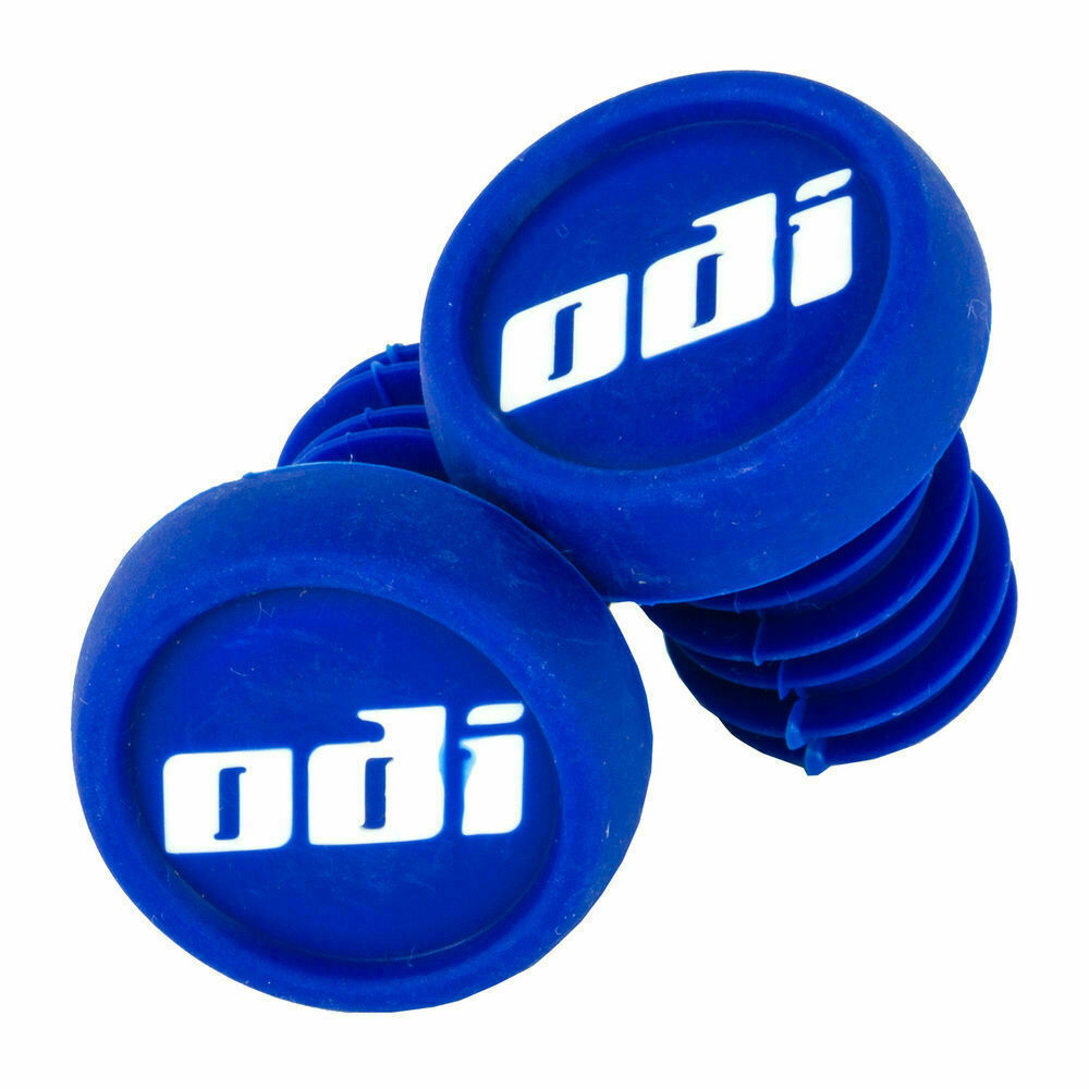 NYLON BLACK ODI  BAR END PLUGS HANDLEBAR CAPS BMX SCOOTERS  PUSH IN NEW