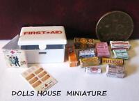 Vintage Style First Aid Tin Dolls House Miniature