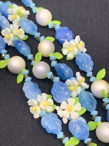 1950S-White-Blue-Green-WOW-Daisy-Flower-Link-Beaded-Strand-Beaded-Necklace-44