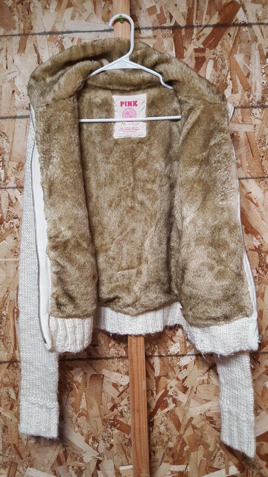 Victoria's Secret PINK faux Fur Lined Sweater Women's Medium