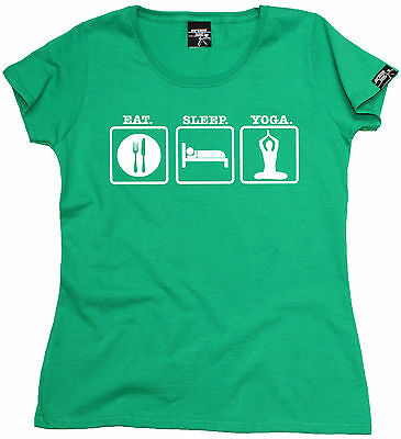 Eat Sleep Yoga MENS T-SHIRT birthday funny fashion gym running yogi training