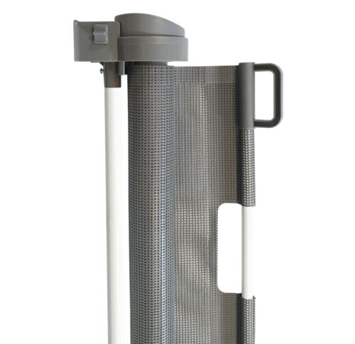Grey 2 Pack Callowesse Retractable Mesh Stair Gate 0-130cm