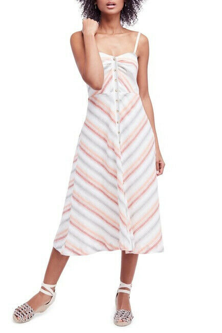 Free People damen Striking Striped OB795182 Dress Relaxed Cream Multi Größe XS