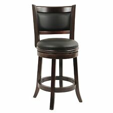 Counter Height Bar Stool Wood Kitchen Office Swivel Stool Chair Island Seats NEW