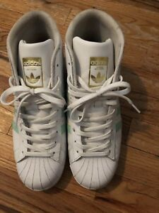 Adidas Pro White and Mint Green Shell