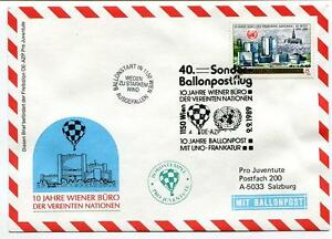 AgréAble 1989 Sonder Ballonpost N. 40 Pro Juventute Aerostato Oe-azp Onu Frankatur Wien Nouveau Design (En);