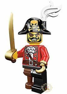 LEGO-MINIFIGURES-SERIE-8-MINIFIGURA-PIRATE-CAPTAIN-8833-ORIGINAL-MINIFIGURE
