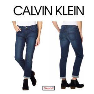 SALE-Calvin-Klein-Ladies-Slim-Boyfriend-Jeans-VARIETY-Size-amp-Wash-Ships-H52
