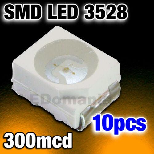 131//10# LED CMS orange 10pcs  smd -300mcd
