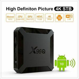 X96Q Android 10.0 Smart TV Box 8/16G 2.4G Quad Core 4K HD HDMI H313 reproductor de medios
