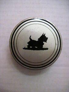 Vintage Typewriter Ribbon Metal Tin w/ Cute Scottie Dog On It   *