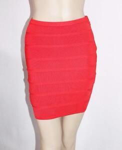 ARMANI-EXCHANGE-Designer-Red-Bodycon-Mini-Skirt-Size-S-BNWT-SP48