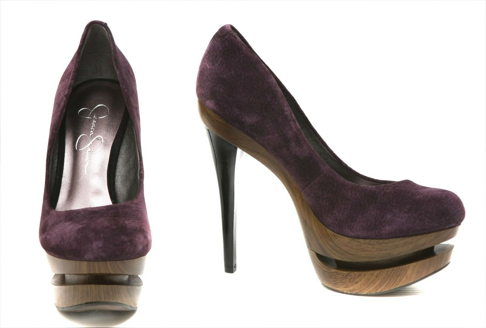 New Jessica US Simpson  suede purple Damens's schuhe sz US Jessica 7 EUR 37 343d78