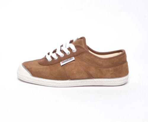 Kawasaki scarpe sneakers suede 5S40 brown white marrone bianco sneakers