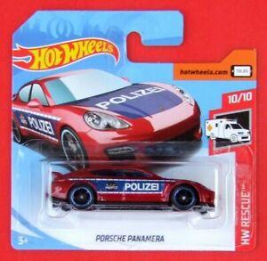 Hot-Wheels-2019-Porsche-Panamera-policia-100-250-neu-amp-ovp