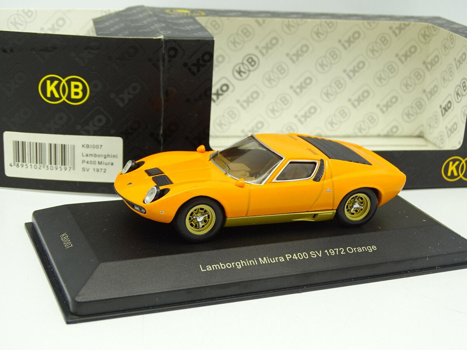 all'ingrosso a buon mercato Ixo KB 1 43 - Lamborghini Miura Miura Miura P400 Sv 1972 Arancione  fino al 65% di sconto