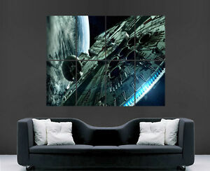 STAR-WARS-POSTER-MILLENNIUM-FALCON-WALL-ART-PICTURE-PRINT-LARGE-HUGE
