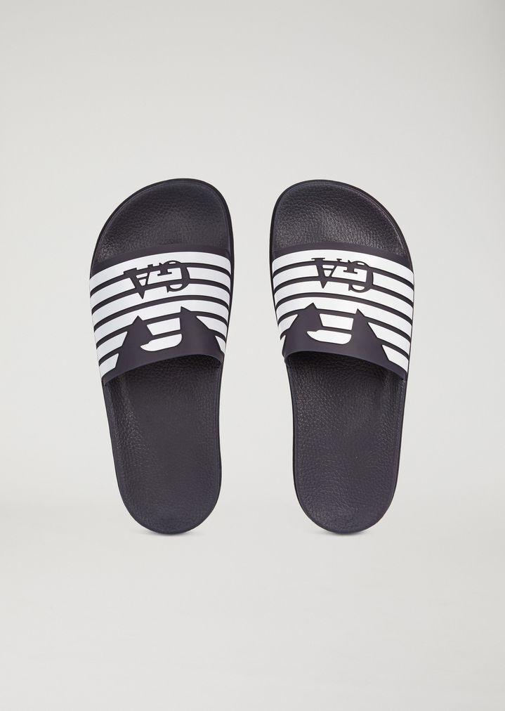 Emporio Armani para Hombre de Diseño Sliders. para Hombre de Diseño Calzado