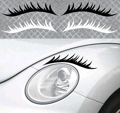 Modern Techniques Cils Phares New Beetle Jdm Fun Humour 2 X 22,5cm Autocollant Sticker ca136