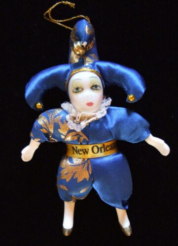 Porcelain Doll Ornament YOUR CHOICE STYLE New Orleans Mardi Gras Party Favor