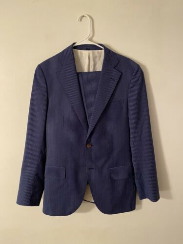 Suit Supply Pinstripe Jabao Men's Suit 38 Modern F