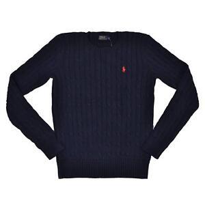 Xl Polo Strik Crew Cable Neck Sweater Hunter Dame S Lauren Ralph Navy gqrYqPH