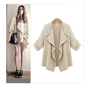 New-Ladies-Loose-Waterfall-Plus-Size-Cape-Top-Irregular-Coats-Jackets-Cardigans