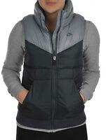 Womens, Ladies Nike Padded Gilet Bodywarmer Jacket Coat Vest Tank Top - Grey