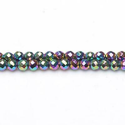 Round Beads 6mm Blue//Purple 62 Hematite Pcs Gemstones Jewellery Non Magnetic