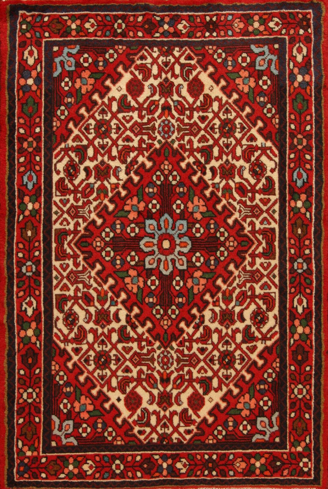 TAPPETO Orientale Vero Annodato Tapis persan n. 4610 (147 x 100) cm Nuovo