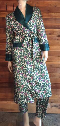 FEATHER TOUCH GREEN FLORAL SATIN SIZE MEDIUM PAJAM